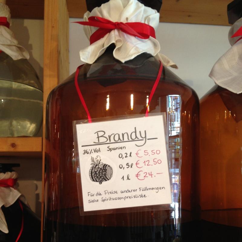 Verschiedene Spirituosen; Brandy - Calvados - Kirschwasser - Williams Christ - Grappa - Mirabellenwasser - Obstler  - Wein & Tee Lädle - Ludwigsburg