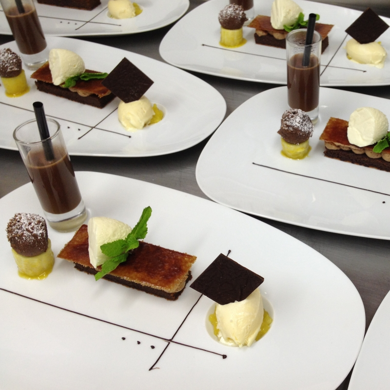 Valrhonaschokolade exotisch! - Restaurant Künstlerkneipe - Karlsruhe