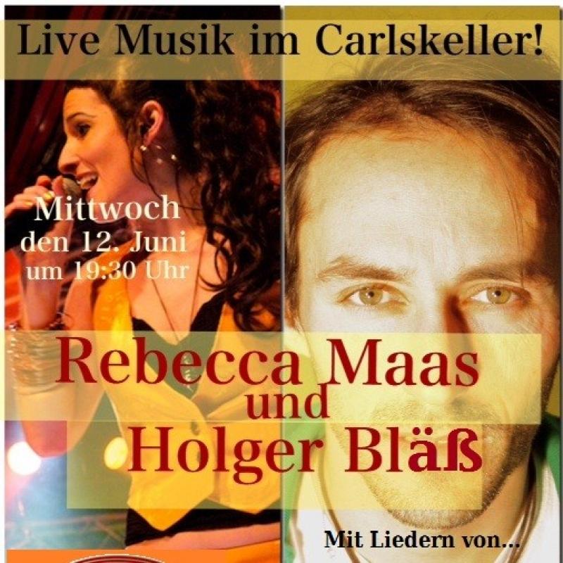 Live Musik im Carl Theodor! Rebecca Maas und Holger Bläss 12. Juni, um 19:30 Uhr  Eintritt frei, Reservierung empfohlen - Carl Theodor Restaurant & Destillathaus - Heidelberg