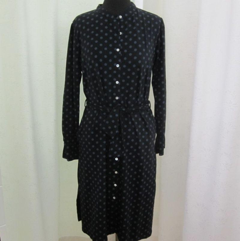 Himalaya Kleid mit Tupfen und Bindegürtel, Gr. S - XL - Ingrid Moden - Augsburg