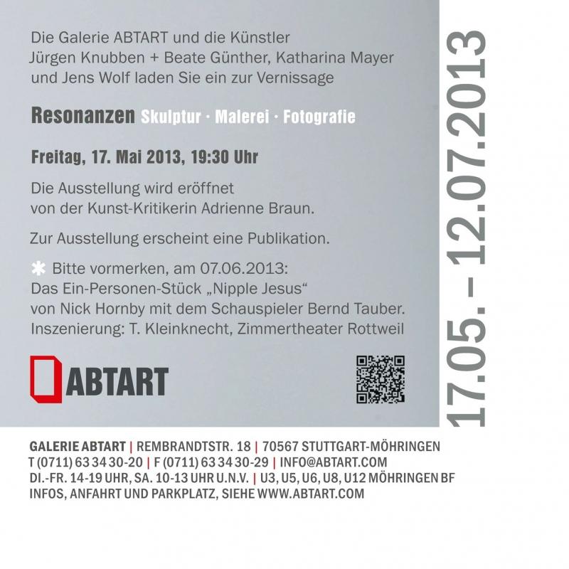 Resonanzen Skulptur - Malerei - Fotografie - ABTART - Stuttgart- Bild 2