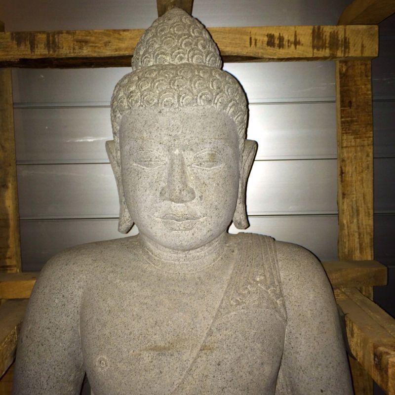 Buddha aus schwarzem lavastein - Living asia Wohnimpressionen aus Fernost - Ulm