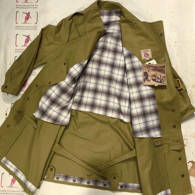 Adjustable Costume: peerless re-invention of a 1940`s british army motorcycle coat, made in Japan,  sizes 40 - 42 - 44, EUR 1460,- - Kentaurus Pferdelederjacken - Köln