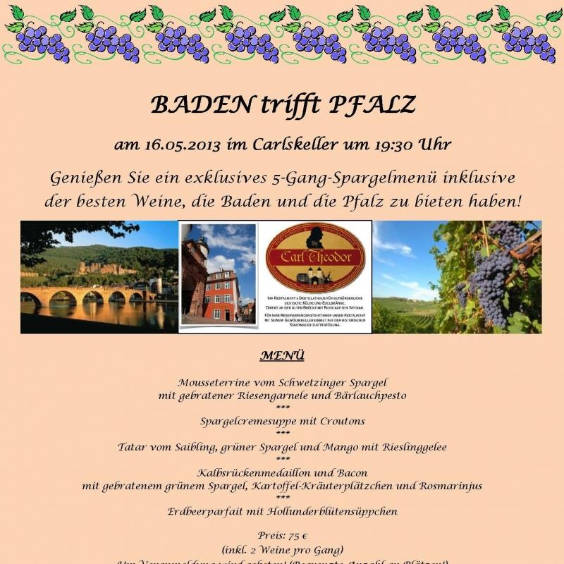 Weinprobe - Carl Theodor Restaurant & Destillathaus - Heidelberg