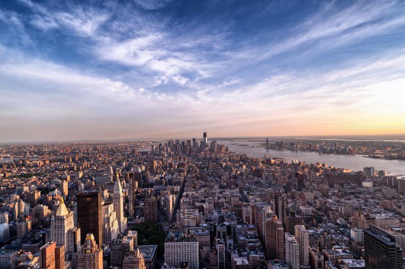 Michael Klapsing  / pixelio.de / New York / Amerika / Stadt / Blick, Empire State Building
