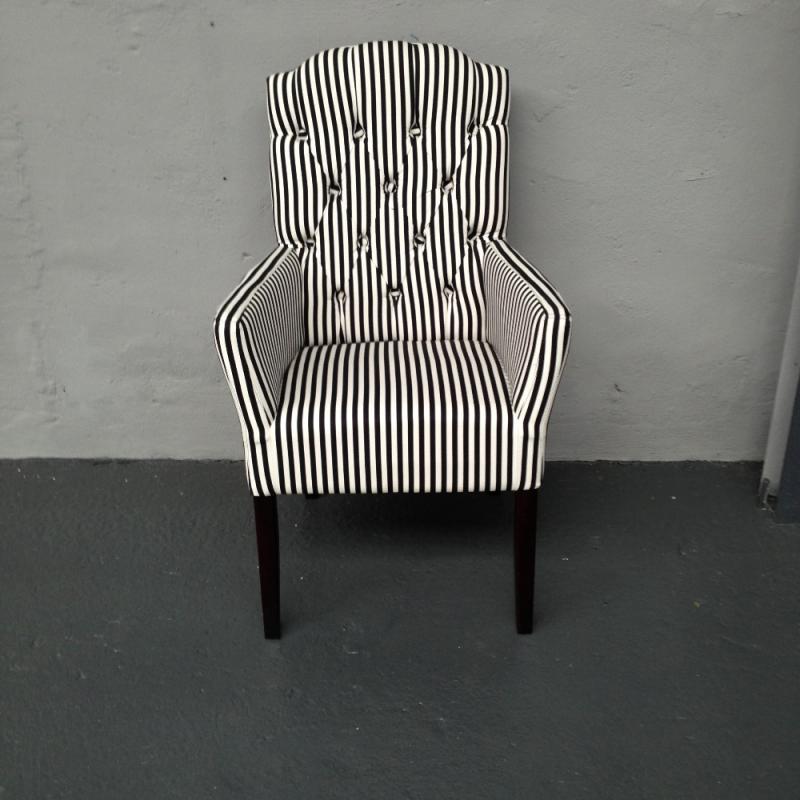 Barock Stuhl Schwarz Weiß gestreift Angebote CUE392