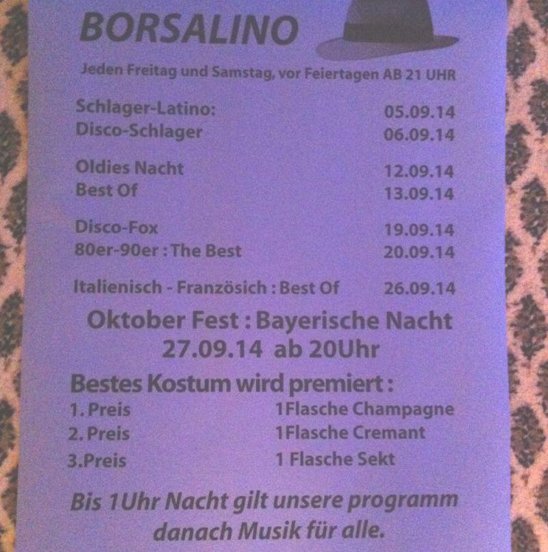 Eintrag #14218 - Borsalino Tanztreff - Saarbrücken