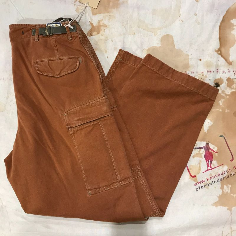 Scartilab SS18: 100% cotton cargo pant tan, sizes 32 and 34, EUR 362,- - Kentaurus Pferdelederjacken - Köln- Bild 1