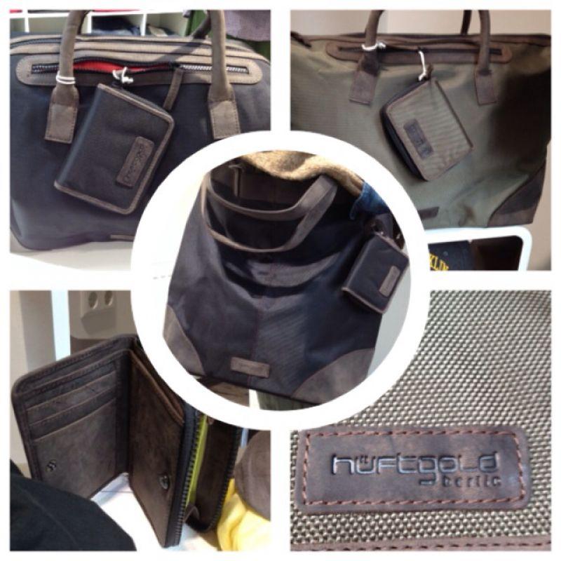 Ob als Sporttasche, Weekender, für Job oder Uni, superschöne neue Taschen von HÜFTGOLD, in Leder-Nylon Kombination, passend dazu die Geldbeutel! - nice For Men - Ettlingen