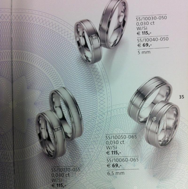 Partnerringe Silber 925 mit Brillant Paar 184,- € - Juwelier Burkhardt - Esslingen