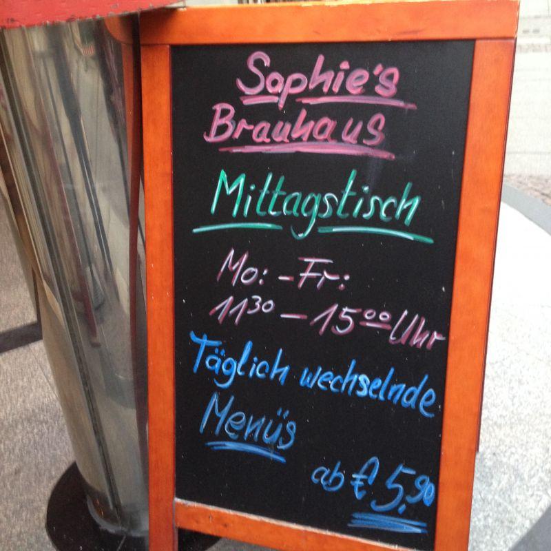 Sophie´s Brauhaus Mittagstisch - Täglich wechselnde Menüs ab 5,90€ - Sophie's Brauhaus - Stuttgart