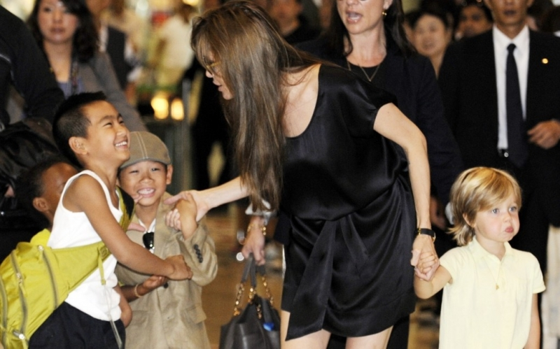 Jolie-Pitt-Family - (c) YOSHIKAZU TSUNO/AFP/Getty Images