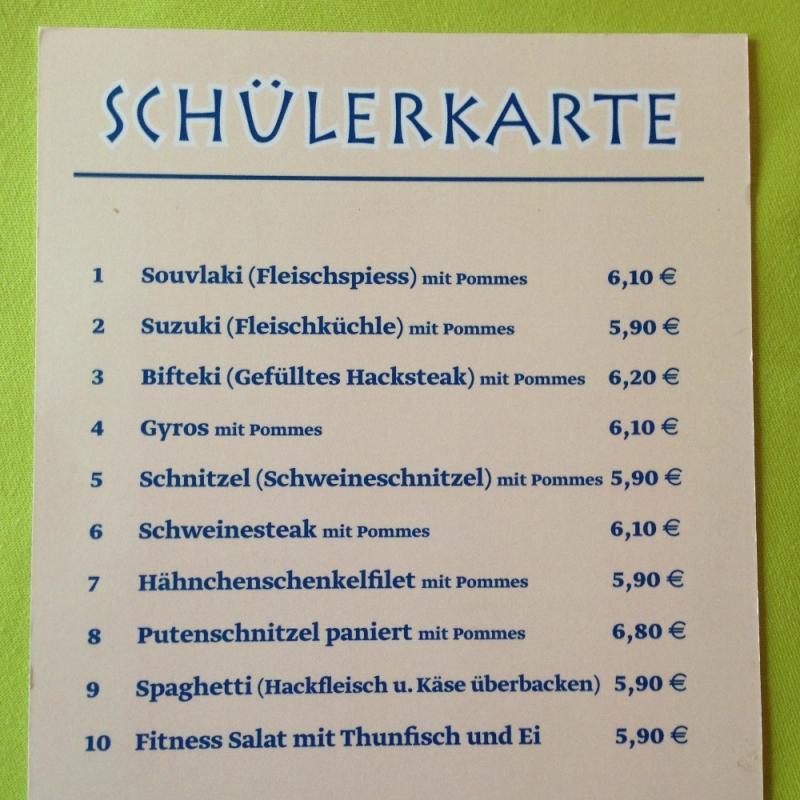 Schülerkarte - SALONIKI - Karlsruhe
