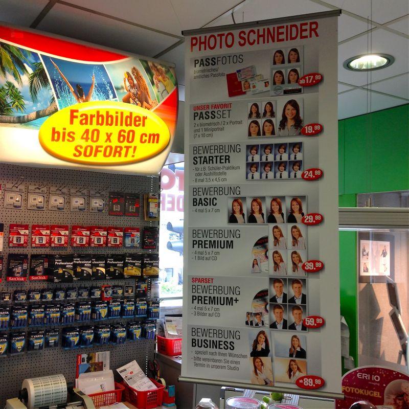 Farbbilder bis 40 X 60 cm sofort! Pass- und Bewerbungsbilder - Photo Schneider - Kirchheim unter Teck