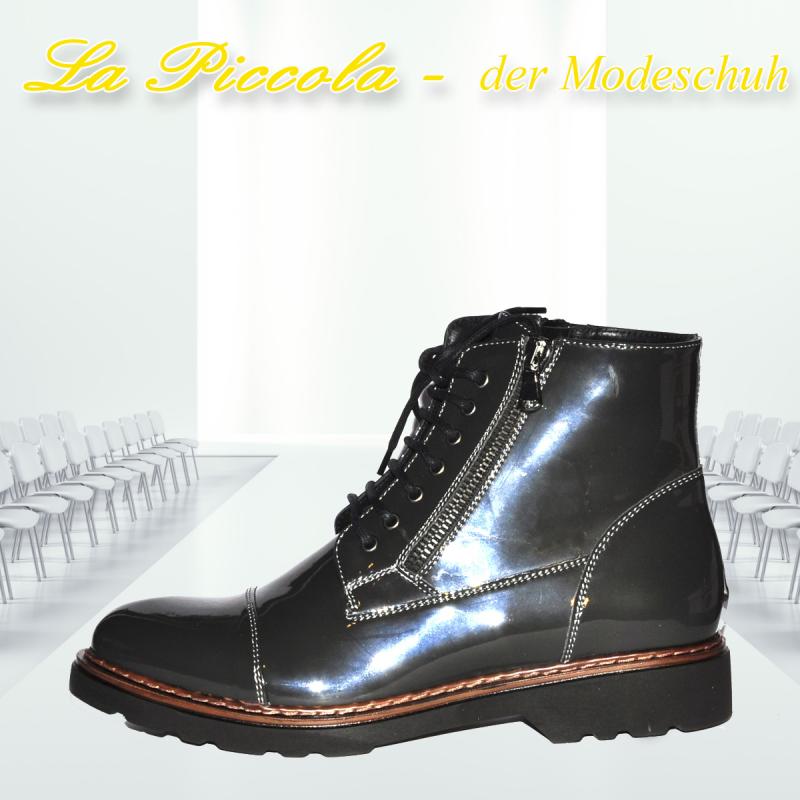 RHODE ART. 7901 LACK ANTHRAZIT - 82 DAMEN STIEFEL - La Piccola der Modeschuh - Pulheim